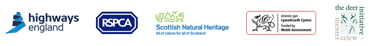 Highways England, RSPCA, Scottish Natural Heritage, Funded by Welsh Government, The Deer Initiative